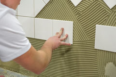 Wall Tile Glue Stock Photo