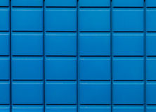 Wall tile texture. Wall tile texture in dark blue color, part of portable toilet Stock Photography