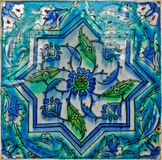 Wall tile. Turkish artistic wall tile - floral pattern Stock Images