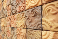 Wall tiles. Traditional ancient on the wall tiles royalty free stock photography