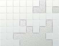 Wall of tiles - abstract background template Stock Photography