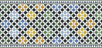 Wall tiles alhambra. Arabic design royalty free illustration