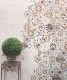 Wall tiles decoration Stock Image
