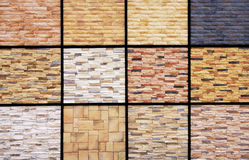 Wall tiles sample. Display of tiles design and pattern sample specifically for wall decoration Stock Image