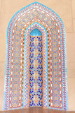 Wall tiles in Sultan Qaboos Grand Mosque - Dome stock image