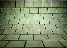 Wall with tiles texture, empty interior Royalty Free Stock Photos