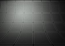 Wall with tiles texture, empty interior Stock Image