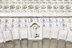 Wall tiles with typical old Lisbon Royalty Free Stock Photo