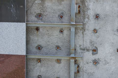 Wall tiles unfinish Stock Photography
