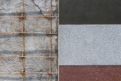 Wall tiles unfinish Royalty Free Stock Images