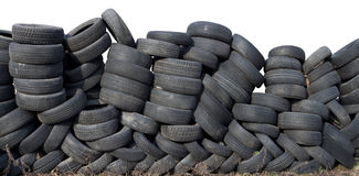 Wall of tire Royalty Free Stock Image