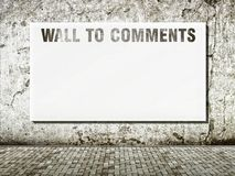Wall to comments space for text Royalty Free Stock Images
