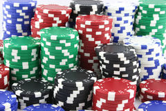 Wall to wall casino chips Stock Image