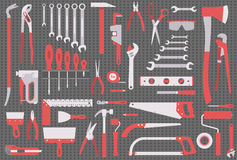 Wall with tools Royalty Free Stock Photography