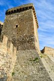 Wall and tower of genoese fortress Royalty Free Stock Photos