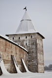 Wall and tower of Kirillo-Belozersky monastery Stock Photos