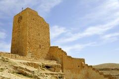 Wall tower of Mar Saba convent, Israel. Stock Image