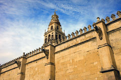 Wall and Tower of the Mezquita Royalty Free Stock Images