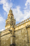 Wall and tower of the mosque in Cordoba Royalty Free Stock Photos