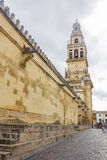 Wall and tower of the mosque in Cordoba Stock Photography