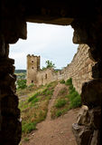 Wall and tower of old fortress Kafa in Feodosia Royalty Free Stock Photo