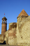 Wall and towers in Erzurum. Castle in the city Erzurum, East Iran Stock Images