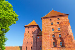 The wall and towers of Malbork castle Royalty Free Stock Photography