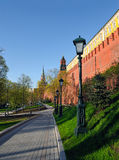 Wall and towers of the Moscow Kremlin Royalty Free Stock Images