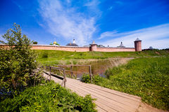 The wall with towers of the Saviour Monastery of St. Euthymius i Stock Photos