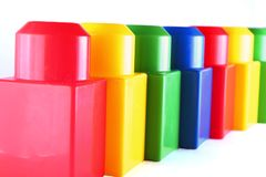 Wall from toy blocks Royalty Free Stock Photo