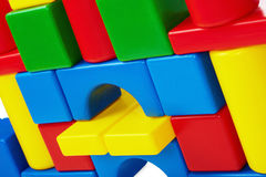 Wall of toy castle closeup Royalty Free Stock Photography