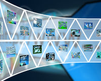 Wall of triangles Stock Photos