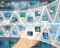 Wall of triangles Stock Images
