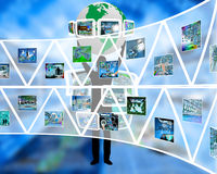Wall of triangles Royalty Free Stock Image