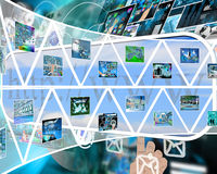 Wall of triangles Royalty Free Stock Images
