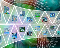 Wall of triangles Royalty Free Stock Photo