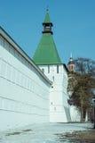 Wall of Trinity Sergius Lavra in Sergiev Posad. Stock Photo