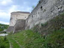 The wall of the Turkish bastion in Kamenetz-Podolsk stock images