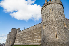 Wall and Turrets of Windsor Castle Stock Photos