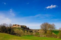 Wall of Tuscany village Stock Photography