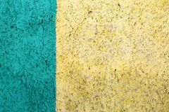 Wall with two colors, decorative plaster Stock Photo