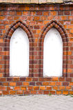 Wall with two windows arc. Old wall with two windows arc Royalty Free Stock Photos