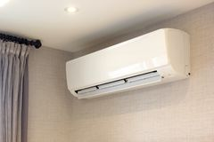 Wall Type Fan Coil Unit Air Conditioner Royalty Free Stock Photography