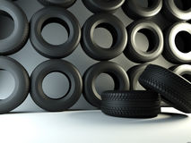 Wall tyre Royalty Free Stock Images