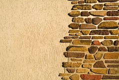 Wall is in an uneven stone Stock Photography