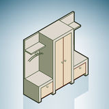 Wall Unit. (part of the Modern Furniture Isometric 3D Icons Set Royalty Free Stock Images