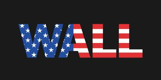 Wall of United States of America USA royalty free stock images