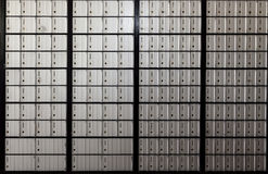 Wall Of United States Post Office Boxes Royalty Free Stock Image