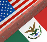 Wall between the US and Mexico. Royalty Free Stock Photos