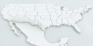 Wall between USA and Mexico. Highly detailed 3D rendering Stock Photography